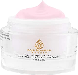 Anti Aging Face Cream Moisturizer - with Rose Scent, Hyaluronic Acid and Diamond Dust, Anti-Aging Anti-Wrinkle Night Cream...