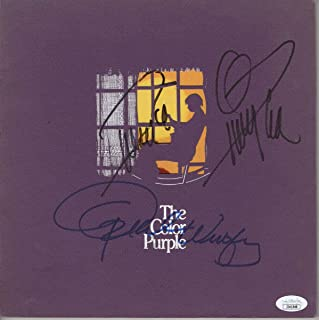 Oprah Winfrey Quincy Jones Signed Autograph Program The Color Purple JSA JJ41548