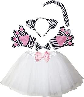 Kirei Sui Kids Zebra Costume Tutu Set White