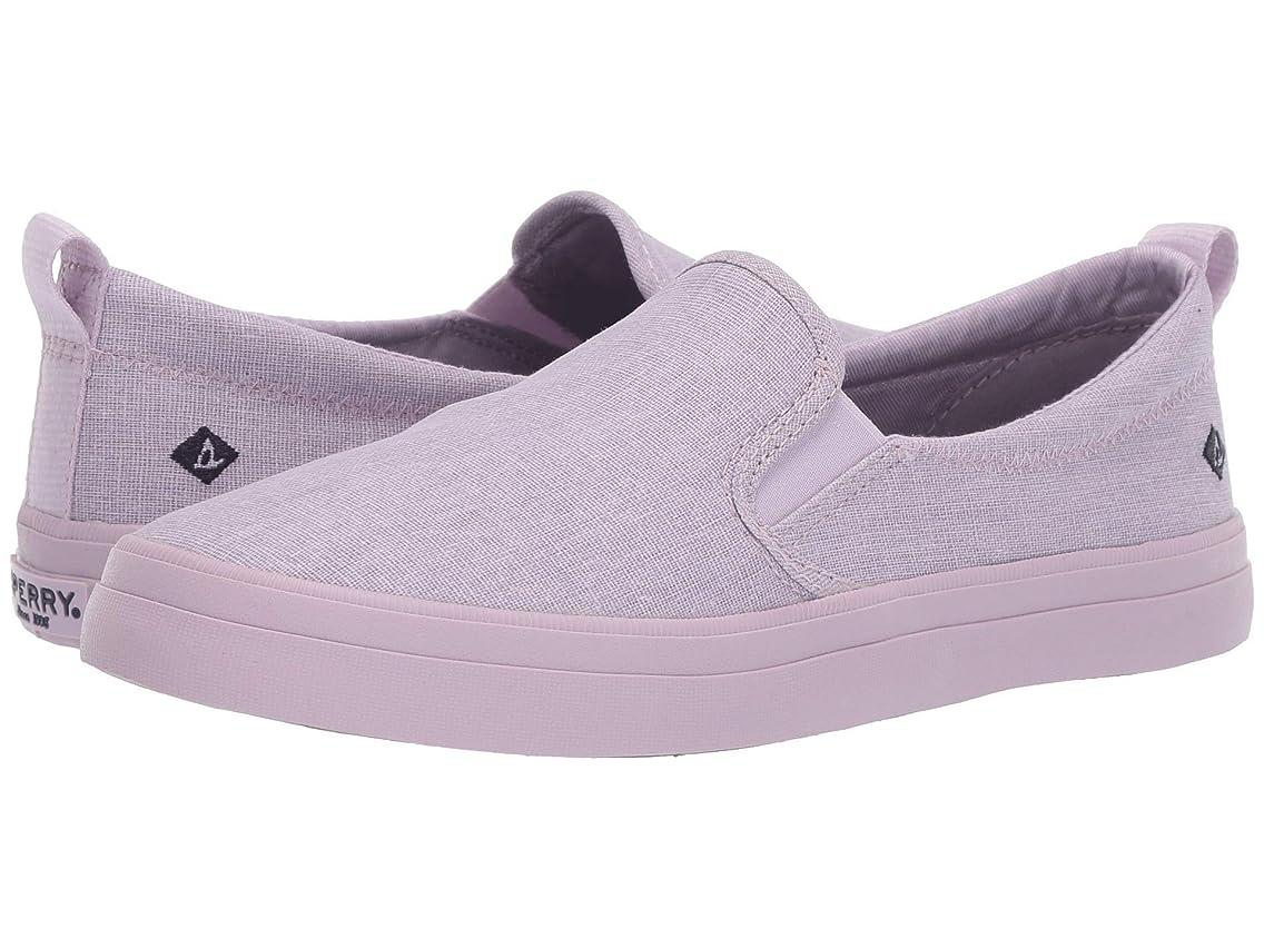 [スペリートップサイダー] レディースウォーキングシューズ?カジュアルスニーカー?靴 Crest Twin Gore Linen Lilac 8.5 (25.5cm) M (B) [並行輸入品]