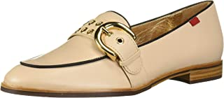 MARC JOSEPH NEW YORK Womens Genuine Leather Buckle Loafer with Grommet Detail