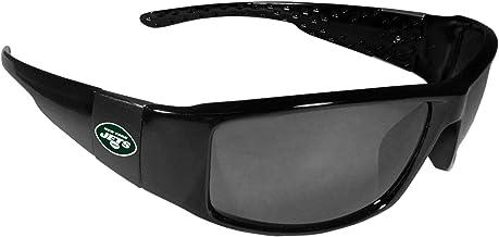Siskiyou NFL Unisex Black Wrap Sunglasses One Size black