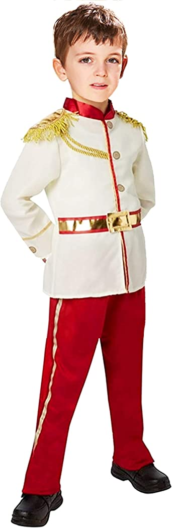 YuDanae Charming Prince Medieval Royal Prince Outfit Costume for Toddler Kids Boys Aged 3-10