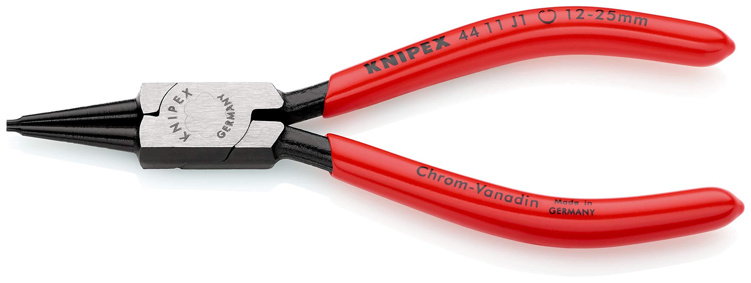 KNIPEX 44 11 J1 Alicate para arandelas para arandelas interiores en taladros negro atramentado recubiertos de plástico 140 mm: Amazon.es: Bricolaje y herramientas