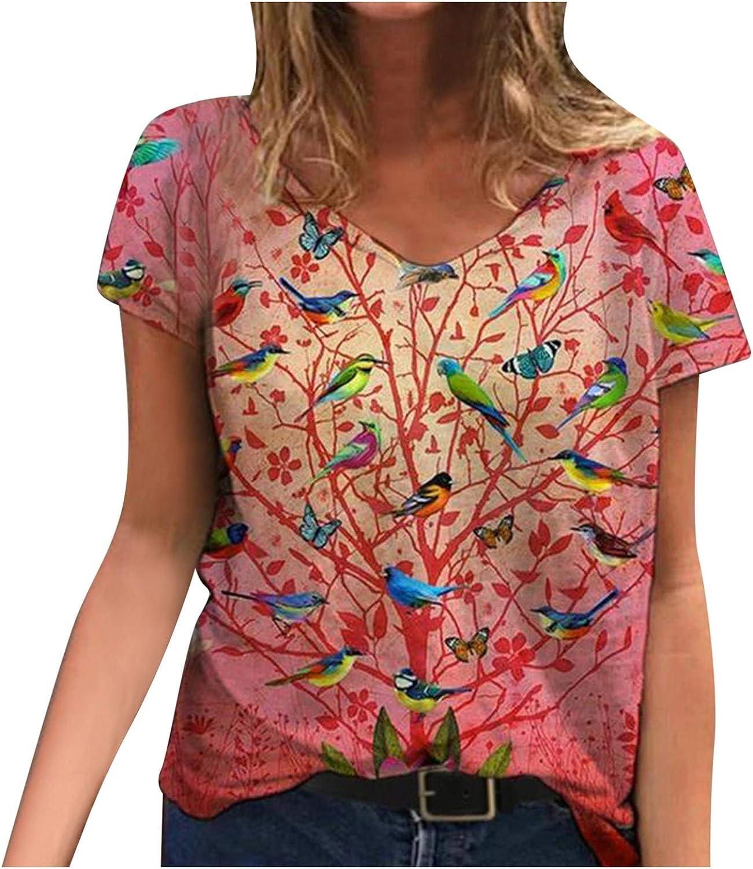 Nashville-Davidson Mall Portazai Women Short Sleeve Shirts V-Neck Casua Women's Tshirts depot