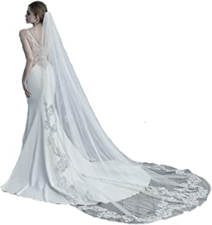 chantilly lace cathedral veil