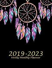 2019-2023 Weekly Monthly Planner: Beauty Dreamcatcher Black Book, 8.5