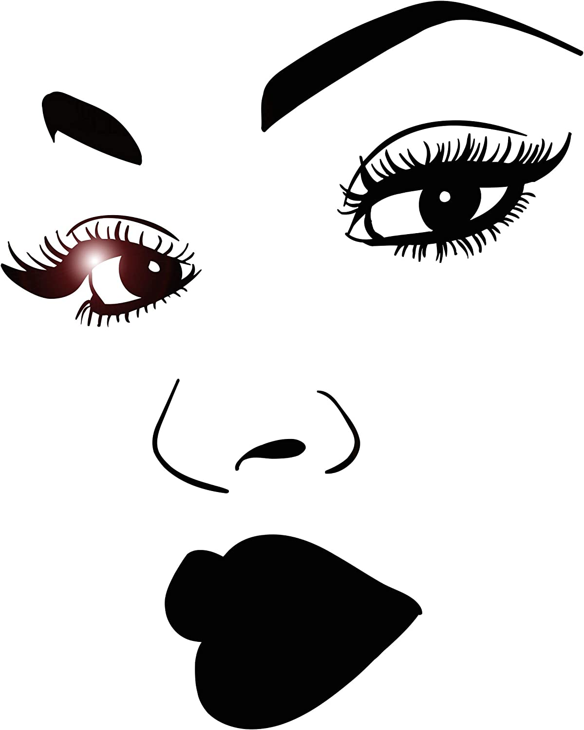 Vinyl Wall Fashion Decal African Woman Makeup S Lips Eyelashes Girl Face Miami Mall