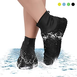 Daywin Waterproof Shoe Covers Silicone Rain Shoe Covers Rubber Shoes Protectors Cover for Men Women and Kids