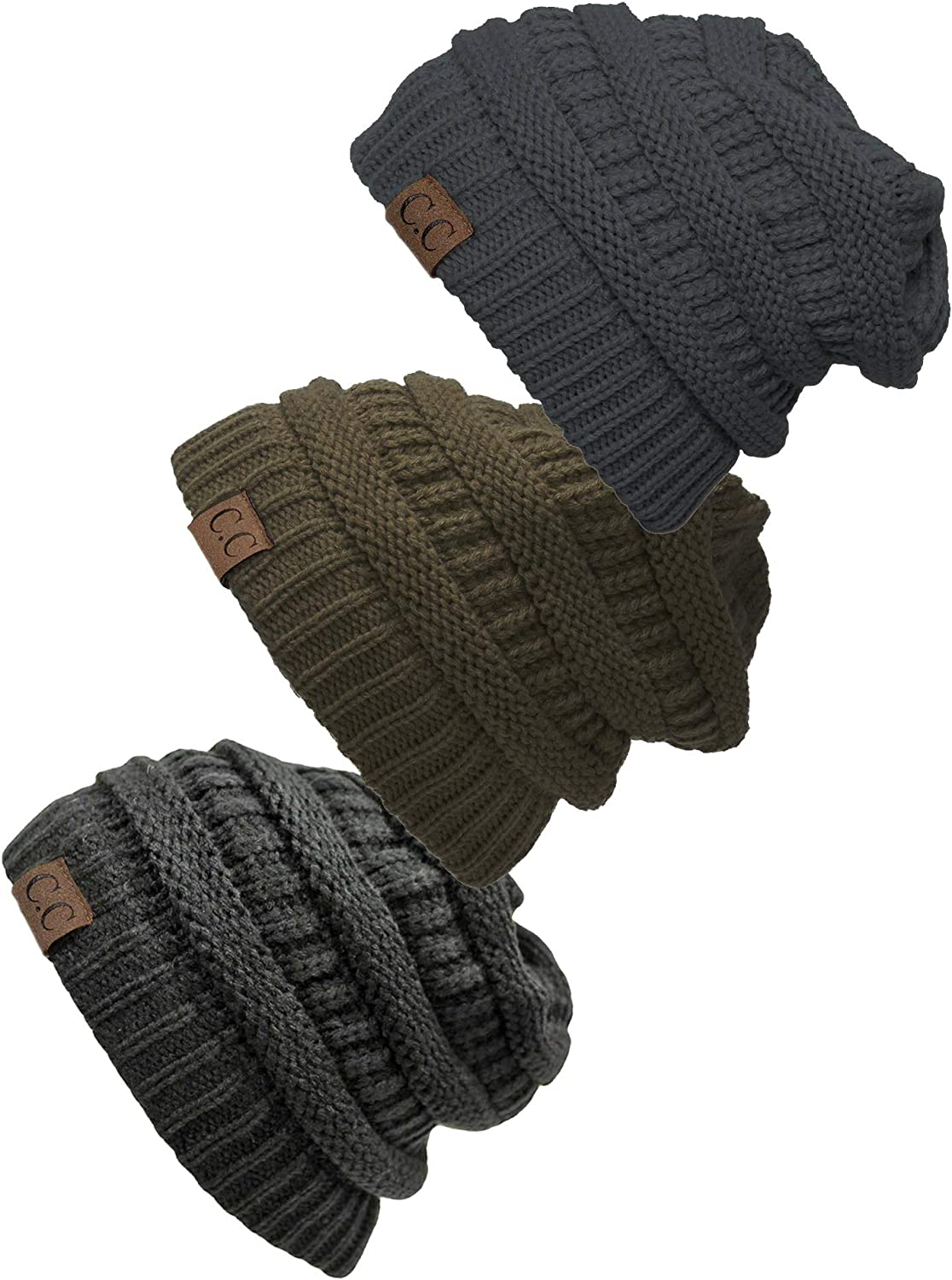 Gravity Threads Women's Max 83% OFF 3-Pack Hat Knit Beanie It is very popular Cap