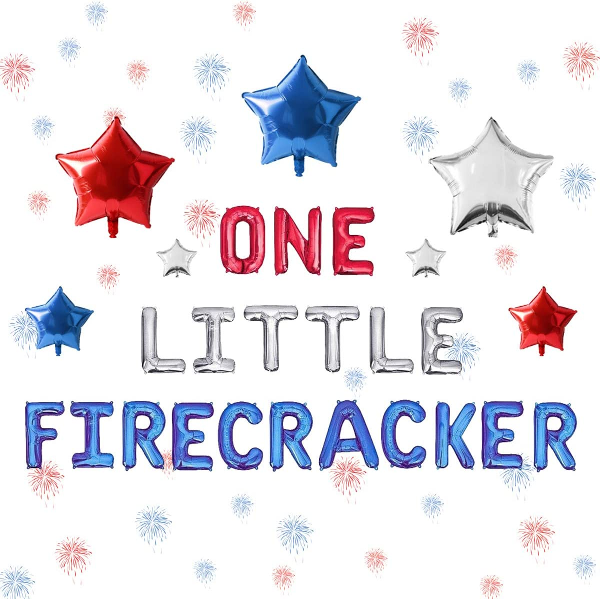 Outlet sale feature 4th of July 1st Birthday NEW before selling ☆ Little Firecracker Bi First Decorations