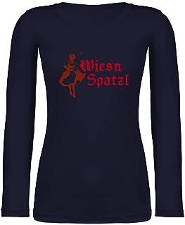 Shirtracer Oktoberfest & Wiesn Damen - Wiesn Spatzl - Langarmshirt Damen