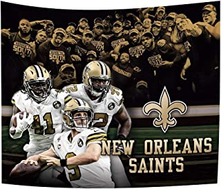Gloral HIF New Orleans Saints Tapestry Home Decoration Bedroom Blanket 50x60 Inches