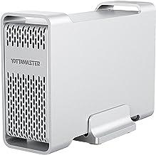 Yottamaster 2.5 Inch USB 3.0 External Hard Drive RAID Enclosure 5Gbps 2 Bay for 12.5mm..