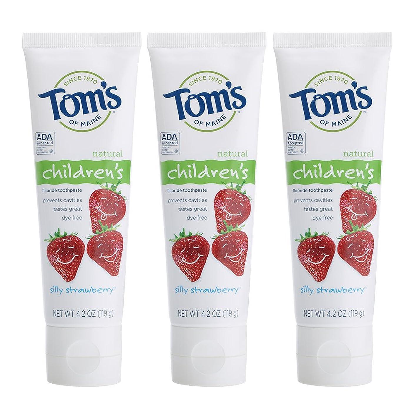 スラダム体操選手漫画Tom's of Maine, Natural Children's Fluoride Toothpaste, Silly Strawberry, 4.2 oz (119 g)