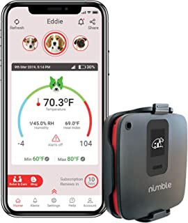 RV PetSafety | Pet Monitor 4G Lite - Powered by Verizon Cellular - No Wi-Fi Needed - Pet Environment Temperature & Humidity Monitor – 24/7 SMS & Email Alerts – in-app (iPhone/Android) Notification.