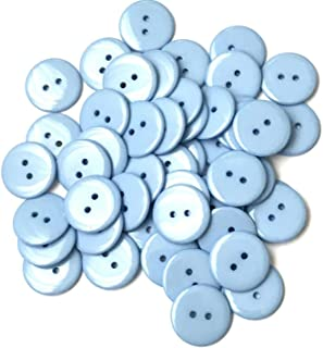 """50 pcs Light Blue Buttons Sewing Button Jacket Coat Sweater Fastener Resin 5/8"""""""