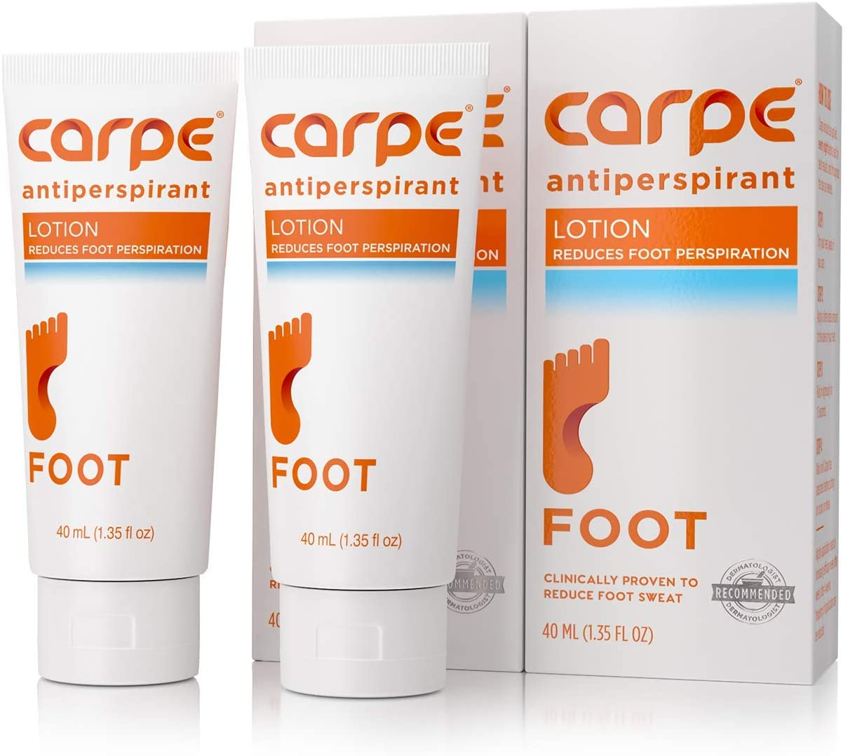 Carpe Antiperspirant Foot Lotion specialty shop So 100% quality warranty Dermatologist-Recommended A