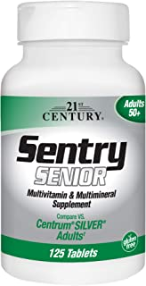 21st Century Sentry Senior Multivitamin Tablets, 125-Count