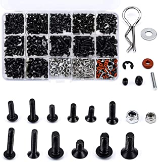 (500PCS) RC Car Screws Kits M3/M4/E Buckle/Shell Buckle/Screw Nuts/Hex Screws/Plugs RC Repair Tool Kit for HSP/Traxxa Scal...