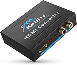 KELIIYO 4K HDMI Audio Extractor-HDMI Converter HDMI to HDMI + Optical TOSLINK SPDIF + Analog RCA L/R Stereo Audio Video Splitter Converter for Blu-ray Player Xbox PS3 PS4 Support 4K 1080P Full HD 3D