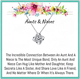 Aunt& Nieces Gifts set necklace for birthday gift, Christmas gift, valentine days gift