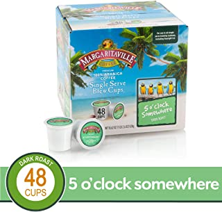 5 O'Clock Somewhere for K-Cup Keurig 2.0 Brewers, Margaritaville Coffee Dark Roast Single Serve Coffee Pods, 0.38 Ounce (Pack of 48)