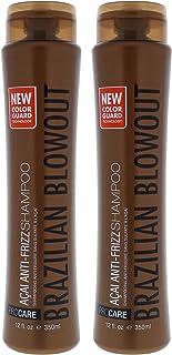 Brazilian Blowout Acai Anti Frizz Shampoo - Pack of 2 For Unisex 12 oz Shampoo
