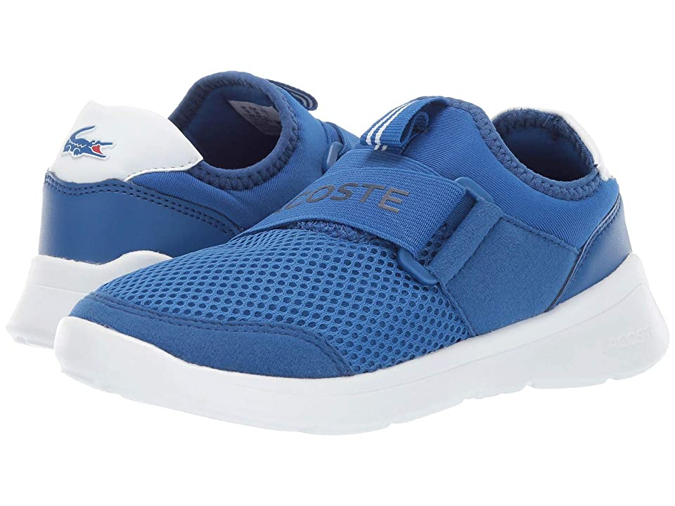 Lacoste Kids Lt Dash Slip 119 1 SUC (Little Kid) (Blue/White) Kid