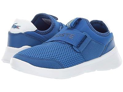 Lacoste Kids Lt Dash Slip 119 1 SUC (Little Kid) (Blue/White) Kid