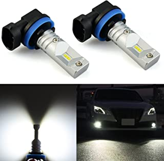JDM ASTAR Extremely Bright 2400 Lumens CSP Chipsets H11 H8 LED Fog Light Bulbs for DRL or Fog Lights, Xenon White