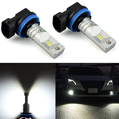 JDM ASTAR Extremely Bright 2400 Lumens CSP Chipsets H11 H8 LED Fog Light Bulbs for DRL