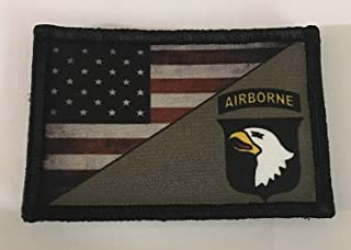Full Color 101st Airborne Screaming Eagles USA Flag Morale Patch. 2x3