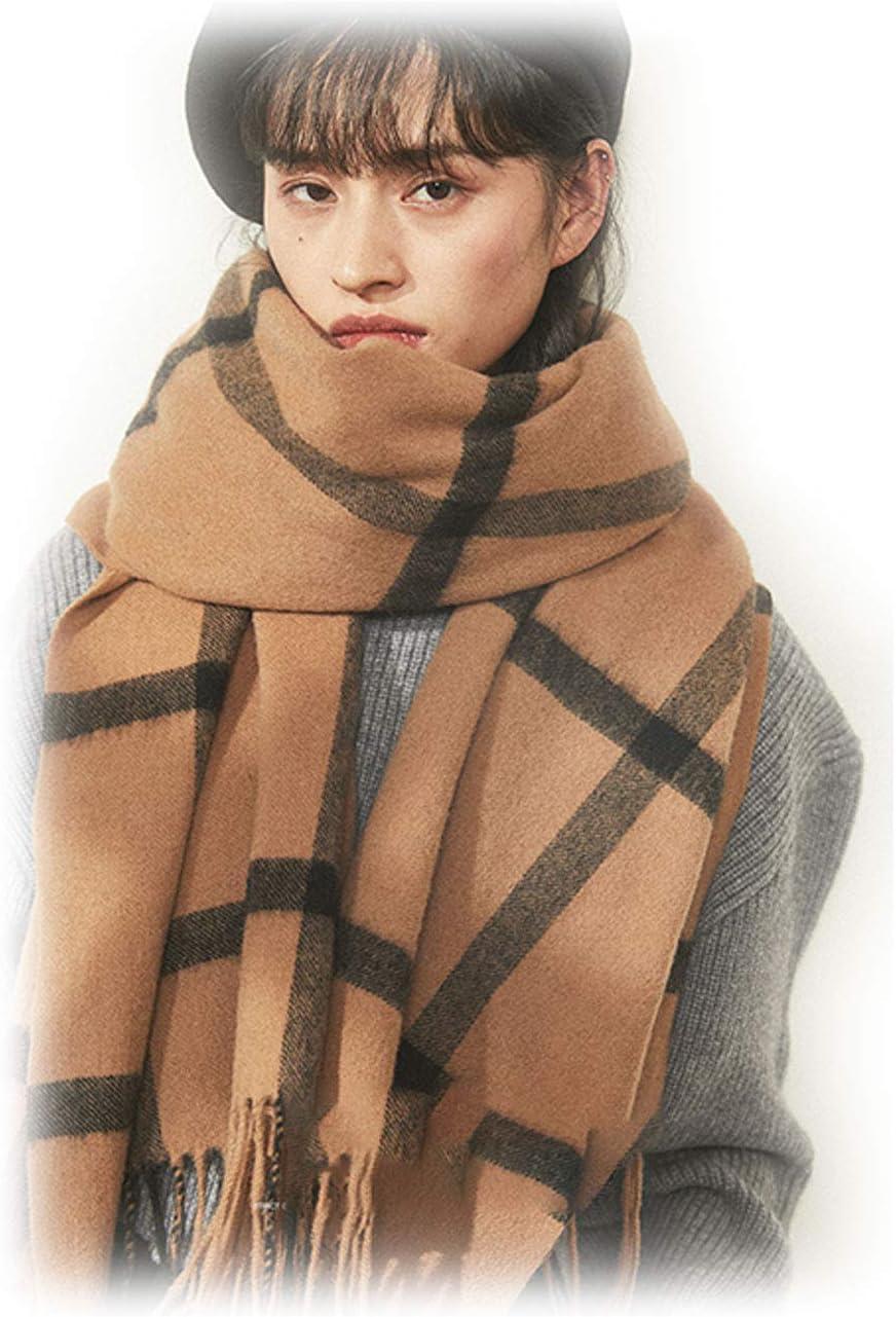 Women's Autumn Winter Scarf Versatile Cheap mail order shopping Shawl Plaid Fashionable D Retro