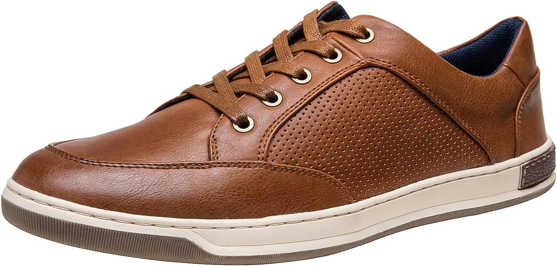 JOUSEN Men's Classic Casual Walking Sneakers (10,Brown)