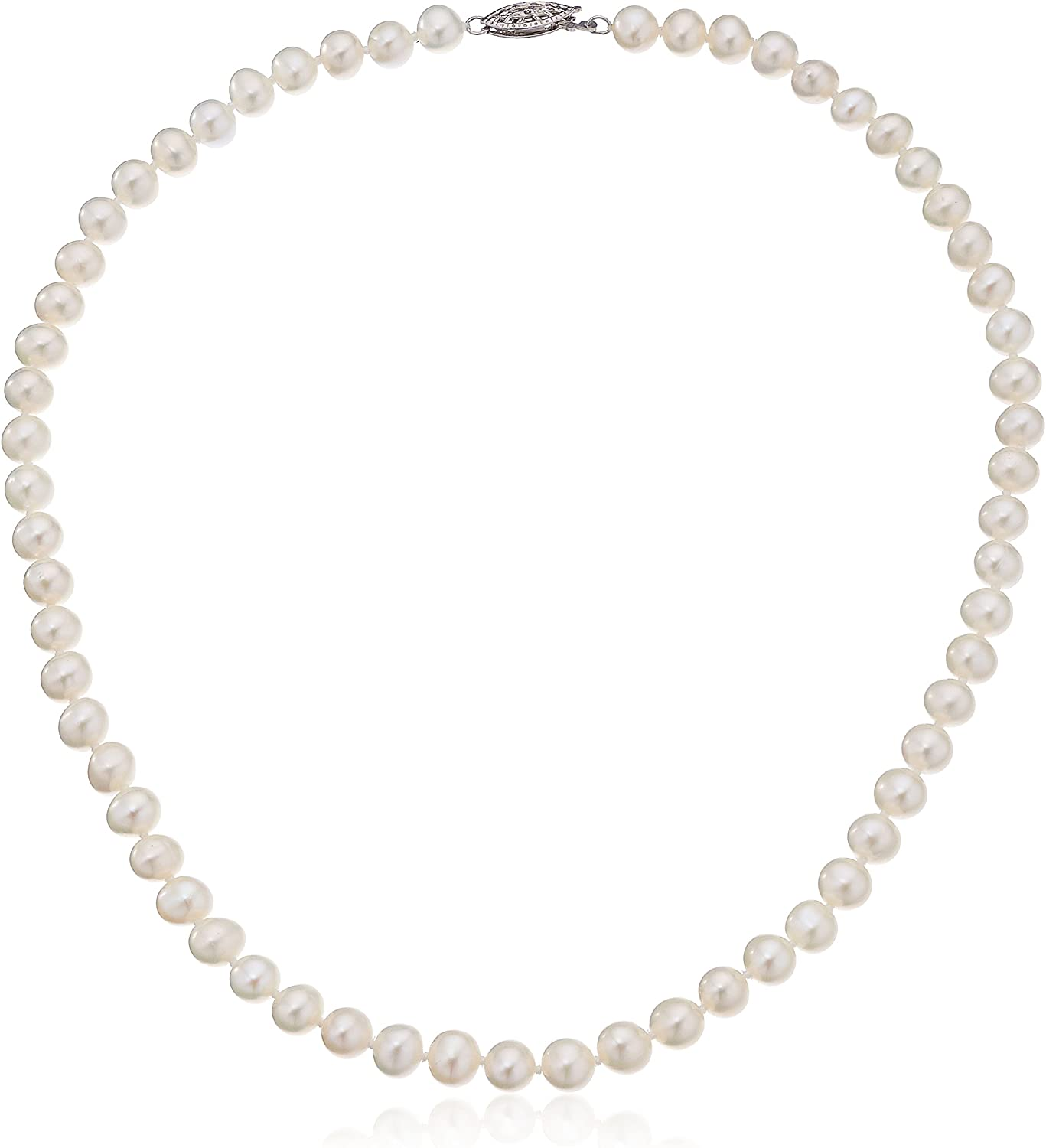Freshwater Pearl Potato shape knotted Necklace with 925 silver hook Top Quality pearl length 18