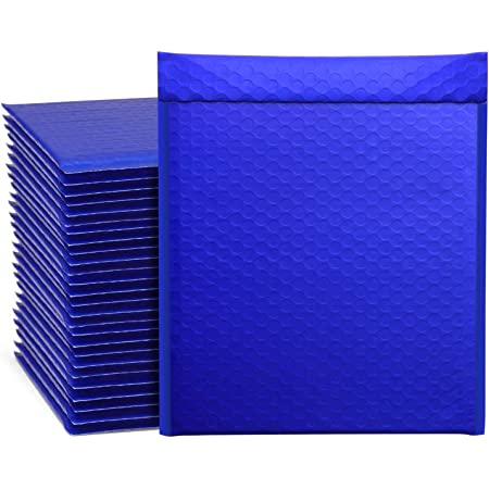 """Metronic 25Pcs Poly Bubble Mailers,10.5x16 Inch Padded Envelopes Bulk #5, Bubble Lined Wrap Polymailer Bags for Shipping/ Packaging/ Mailing Self Seal Royal Blue (Inside Size: 10.5x15"""")"""
