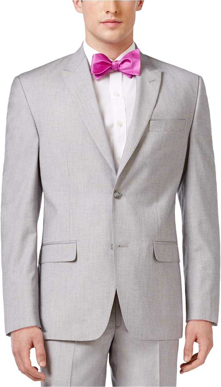 Sean John Mens Classic-fit Two Button Blazer Jacket, Grey, 50 Long