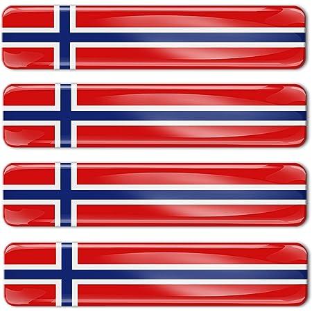 Biomar Labs 2 X Aufkleber 3d Gel Silikon Stickers Norway Flag Norwegen Norwegische Flagge Fahne Autoaufkleber F 15 Auto