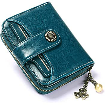 Peacock Genuine Leather Front Pocket Wallet Personalized