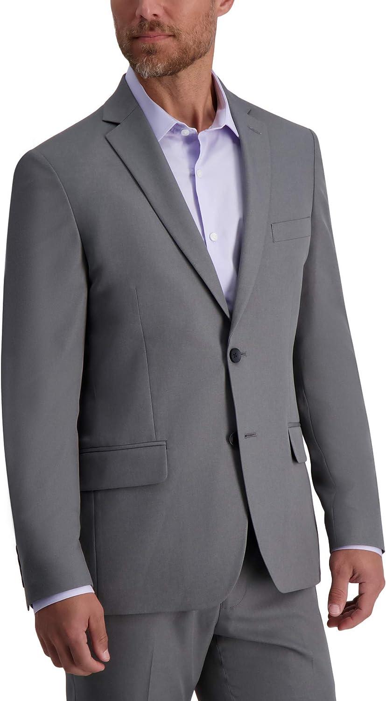Louis Raphael Men's 2B SV Skinny Fit Jacket, Heather Grey, 44L