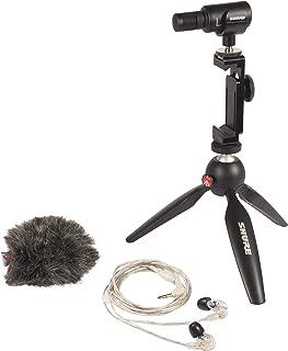 Paquete Shure de vídeo portátil con Cascos SE215 y Kit de vídeo MV88+ con micrófono estéreo Condensador Digital