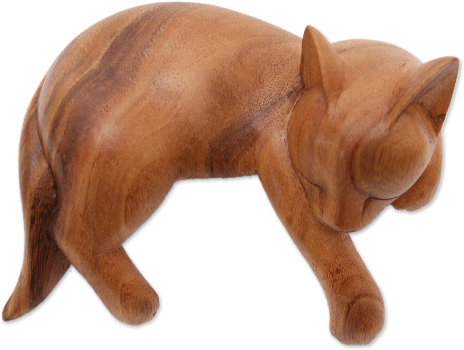 Fort Worth Mall NOVICA Brown Wood Animal Themed Indonesia 'Snoozi Inexpensive from Sculpture