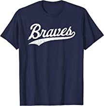Braves Vintage Distressed Womens Mens Kids T-Shirt