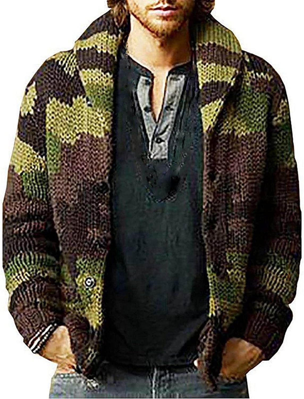Men's Fashion Sweater Jacket Large Cardigan Loose Oversized Coat