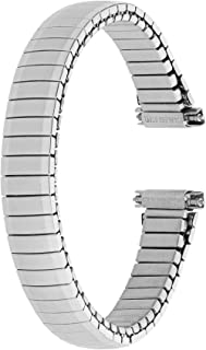Voguestrap TX666W Allstrap 11-14mm Silver Long-Length Tapered Expansion Watchband