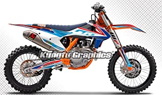 Kungfu Graphics Custom Decal Kit for 125 150 250 350 450 SX SXF SX-F XC XCF XC-F 2016 2017 2018 (2016 250sx 250xc 300xc is NOT included), Sky Blue