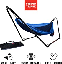 Grand Trunk Hangout Hammock Stand: Black   Perfect Stand for Outdoor Hammocks
