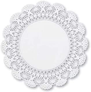 10 inch Round paper Lace Table Doilies – White Decorative Tableware Disposable papers Placemats (pack of 100)