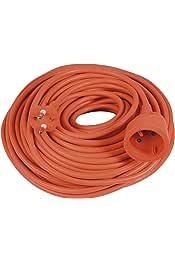 orange Gefotech 500592 Prolongateur /électrique longueur 30m c/âble 2x1,5 mm
